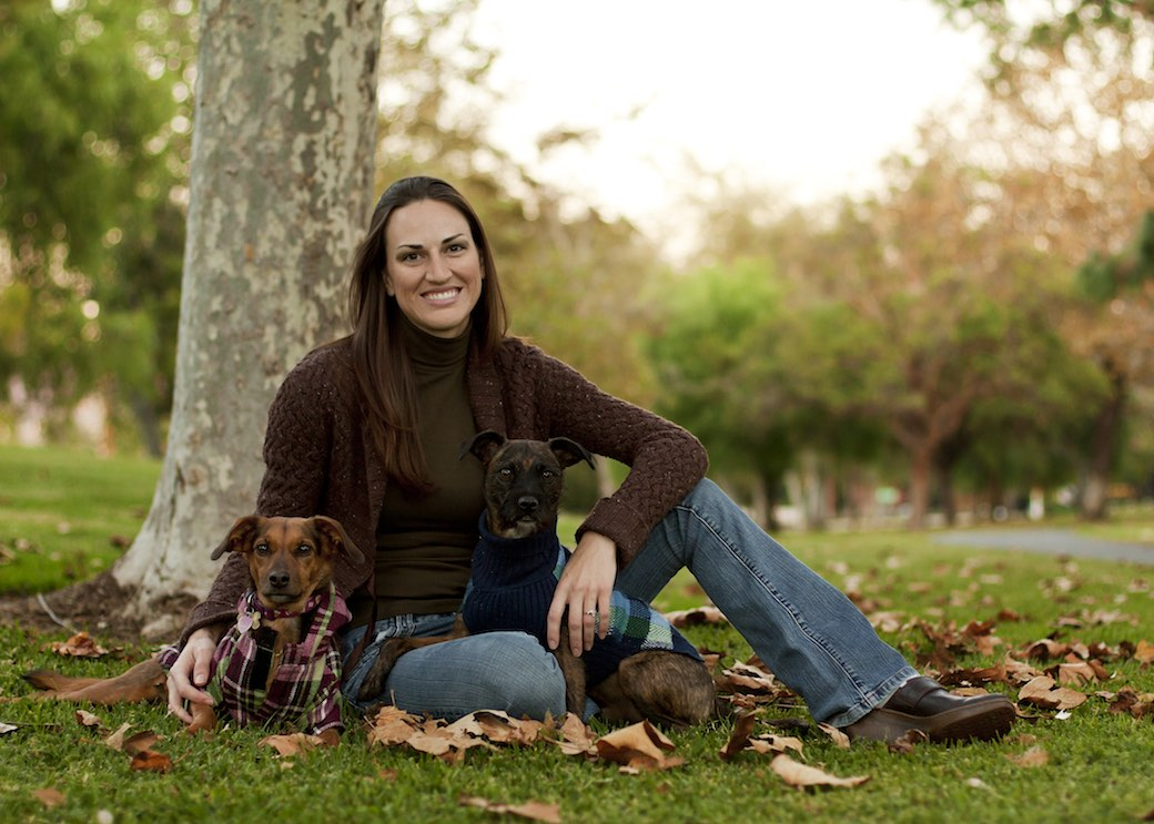 Image: Erin Foate of Dachs 2 Danes, Inc. and her dogs