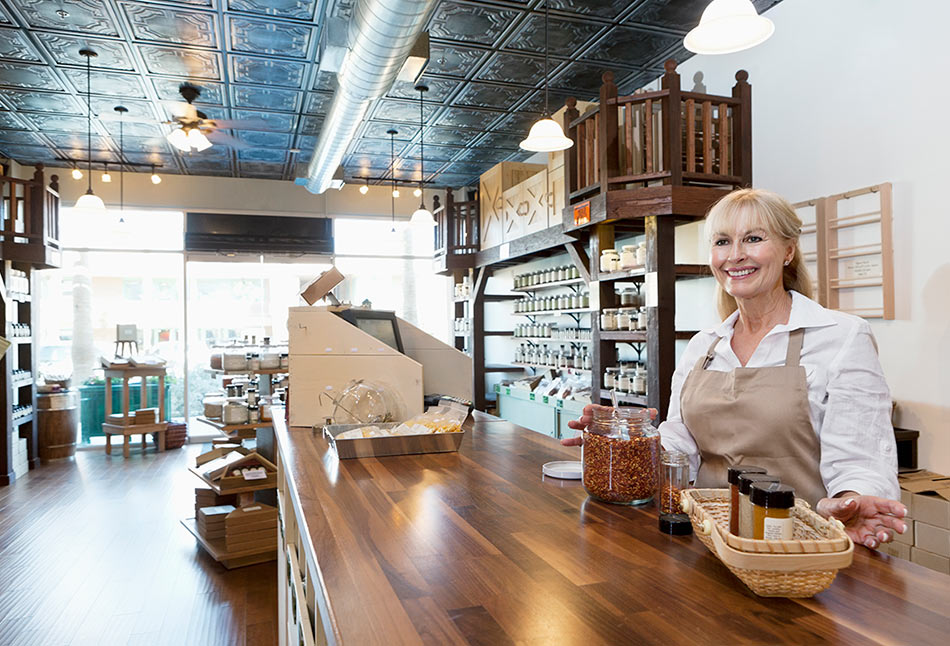 woman who is a small business owner in their spice shop